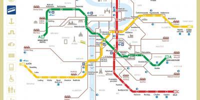 Metro Prag Karte.Prag Map Karten Prag Böhmen Tschechien
